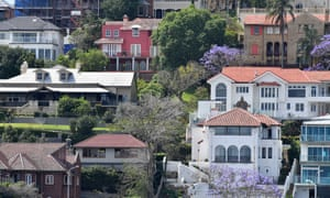 Houses and apartment buildings are seen in the Brisbane suburb of Hamilton