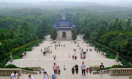 Sun Yat-sen's mausoleum in Nanjing.