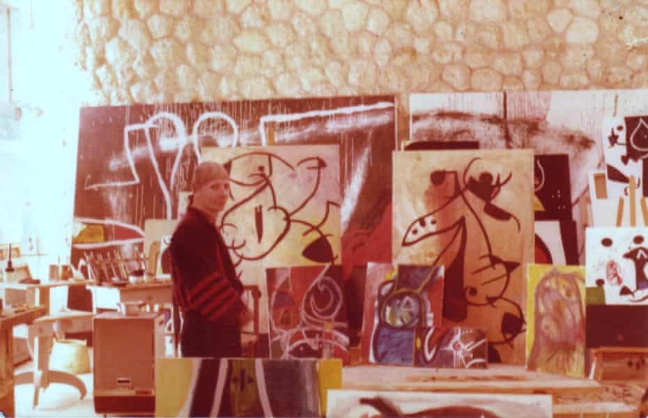 Visiting Joan Miró in his studio in Palma de Majorca