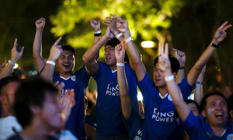 Leicester supporters in Bangkok