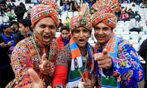 India fans at the rained-off match against New Zealand on 13 June.