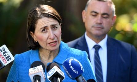 New South Wales premier Gladys Berejiklian and deputy premier John Barilaro