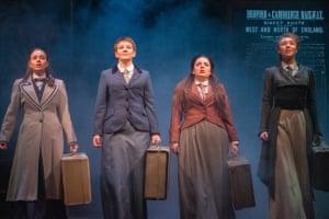 Louise Wilson, Esther Johnson, Rebecca Pegasiou and Neve Kelman in Blue Stockings