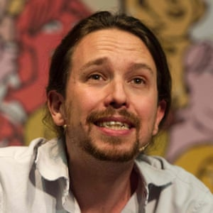 Leader of Spain's leftwing Podemos, Pablo Iglesias