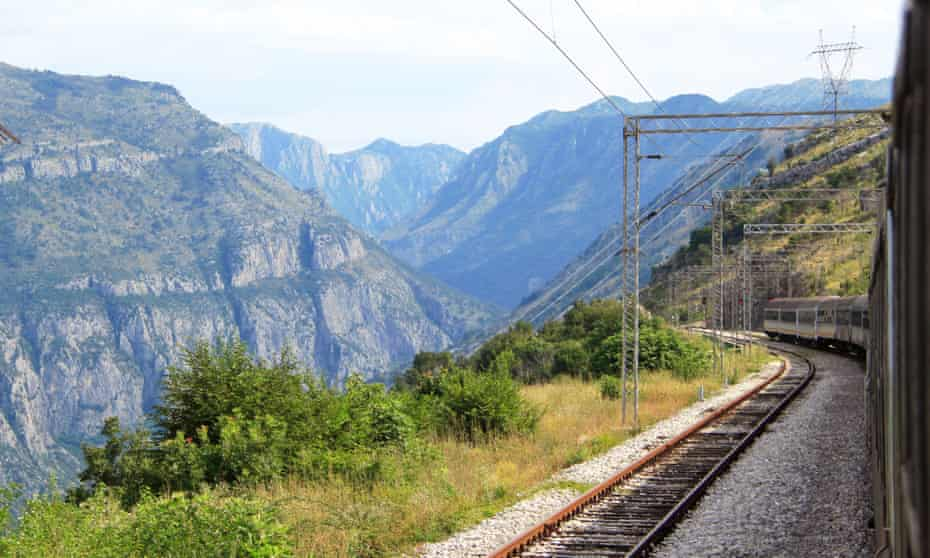 The right track: the railway heads into the mountains en route to Bar.