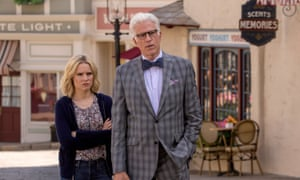 Kristen Bell as Eleanor and Ted Danson as Michael.