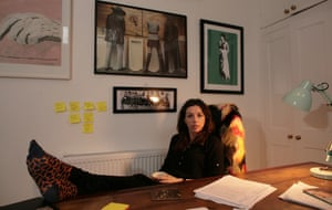 Bridget Christie in her home office.