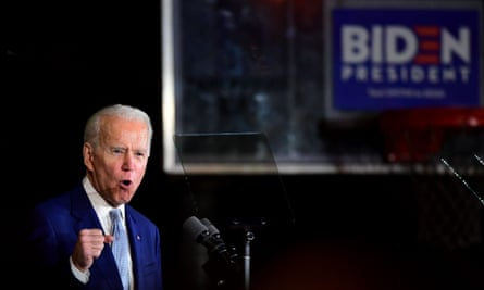 Joe Biden speaks during a Super Tuesday event in Los Angeles on 3 March 2020.