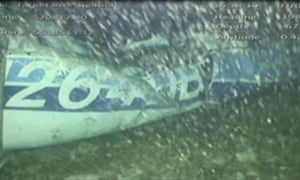 The wreckage of the Piper Malibu aircraft was found on Sunday north of the Channel island of Guernsey.