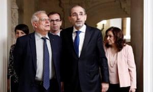Ayman Safadi and Josep Borrell.