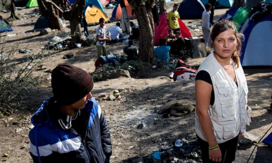 'They are suffering. They are without their parents, an education, a future': Dimakou in the Moria camp.