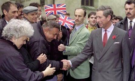 Prince Charles visits the Transylvanian town of Sibiu in 2004.
