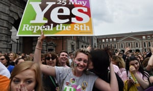 The result of the Irish referendum on the country's abortion laws is declared at Dublin Castle.