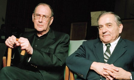 Harold Pinter and his friend Henry Woolf.