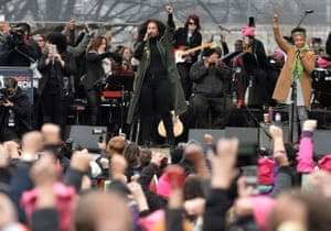 Alicia Keys performs on the National Mall in Washington DC