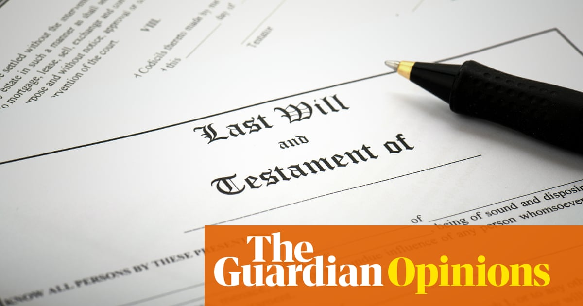 Writing a will is a milestone of adulthood