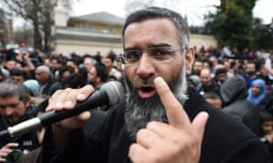 'A ragged, cynical opportunist who, by himself, had garnered little traction.' Anjem Choudary at a rally outside Regent's Park mosque, London, 2015.