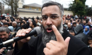 Anjem Choudary at a rally outside Regent's Park mosque in central London in April 2015.