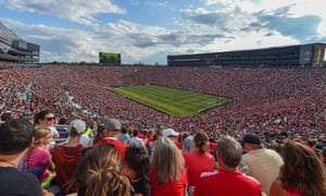 A general view of Liverpool v Manchester United in the International Champions Cup at Michigan Stadium on 28 July 2018
