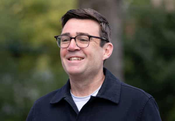 The mayor of Greater Manchester, Andy Burnham, after casting his vote this week.