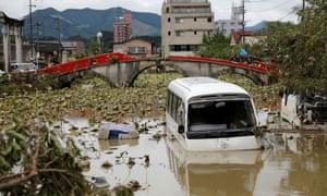 Flooding in Hitoyoshi, Kumamoto Prefecture.