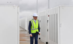 The South Australian premier,Jay Weatherill, attended the launch of Tesla's 100 megawatt lithium-ion battery at Jamestown, north of Adelaide, in December.