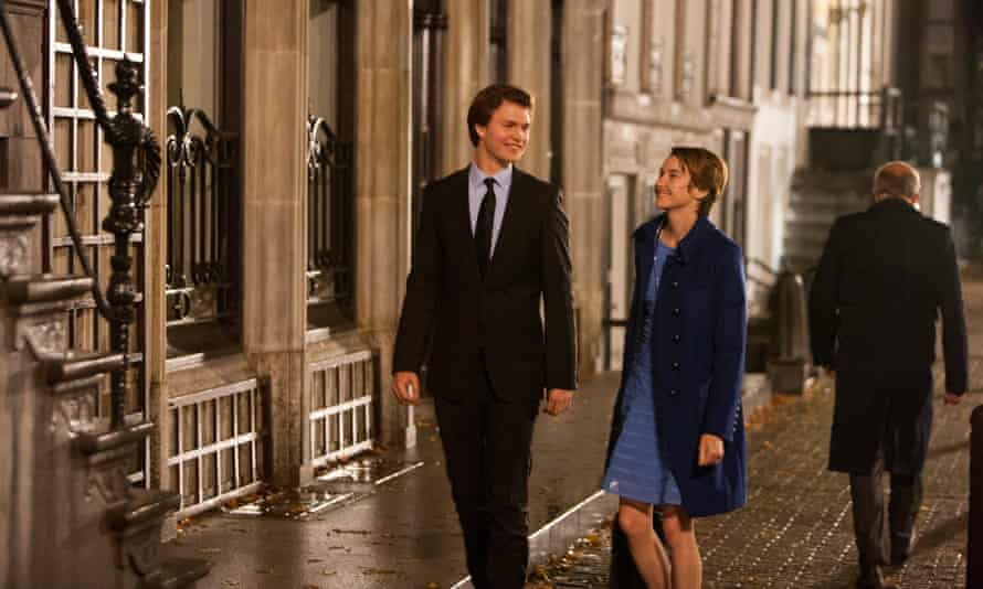 Ansel Elgort, left, and Shailene Woodley in The Fault In Our Stars.
