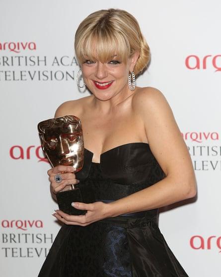 Winning a Bafta, 2013.