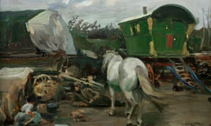The Caravan by Alfred James Munnings.