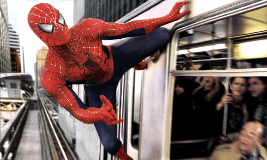 Tobey Maguire stars in Sam Raimi's 2004 Spider-Man 2.