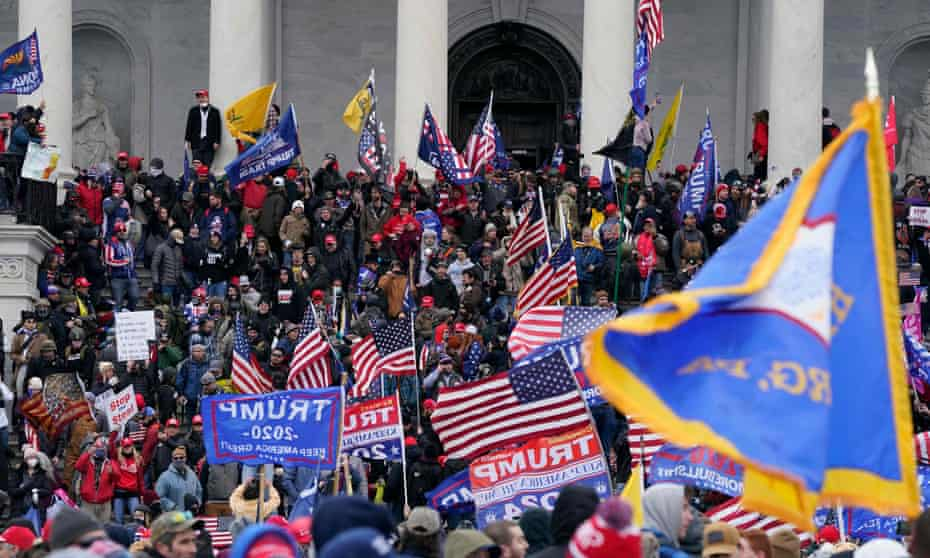 A mob of Donald Trump supporters stormed the Capitol building to disrupt the confirmation of Joe Biden's election victory on 6 January 2021.