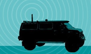 An illustration of Stingray surveillance technology.