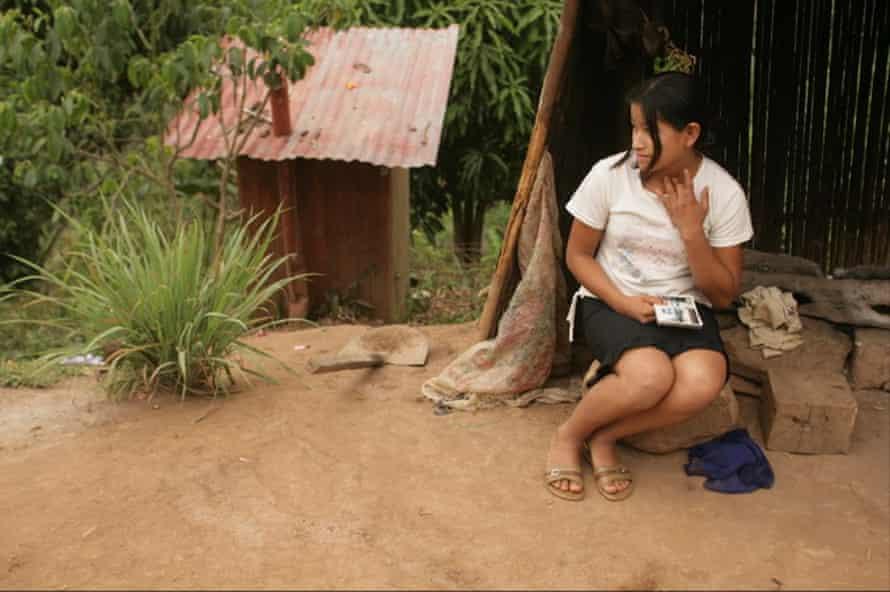 A 14-year-old student in Santa Ana, Junín, Peru