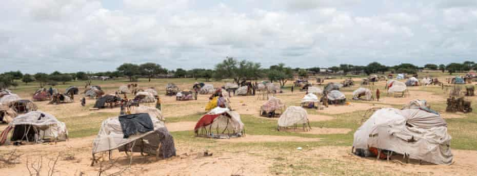 A view of the refugee camp in Dar al-Kheir, Chad.