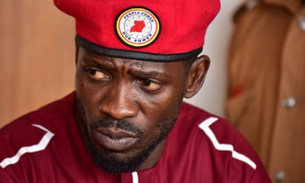 Uganda's Bobi Wine appears in court in Kampala over a protest that took place last year.