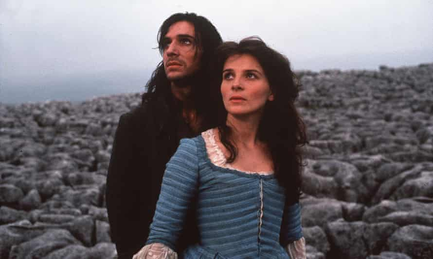 Ralph Fiennes as Heathcliffe and Juliette Binoche as Cathy in the 1992 adaptation of Wuthering Heights.