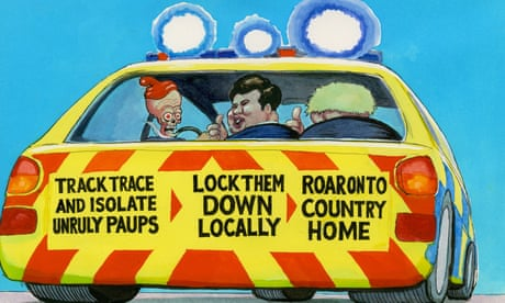 Steve Bell on England's track-and-trace strategy – cartoon
