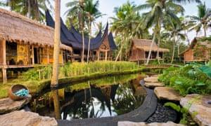 The eco-retreat of Bambu Indah in Ubud, Bali