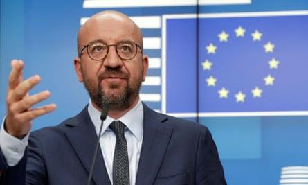 the European council president, Charles Michel
