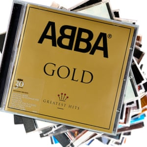A pile of CDs with Abba GHold on top