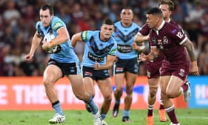 Blues player Isaah Yeo during Game 3 of the 2020 State of Origin series between the NSW Blues and QLD Maroons at Suncorp Stadium, Brisbane, Wednesday, November 18, 2020.