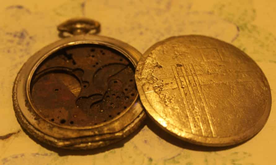 A pocketwatch one of the welders found in the old ships dumped on Brondong Port.