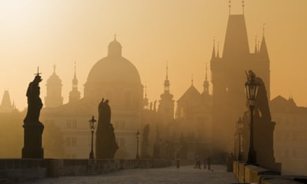 Dawn watch: the Charles Bridge, Prague.