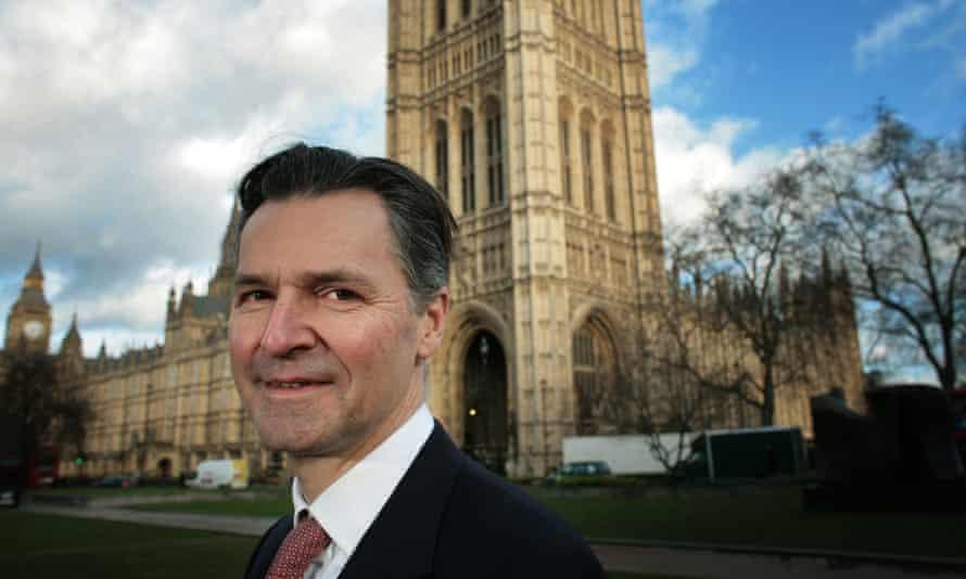 John Holland-Kaye outside the Houses of Parliament