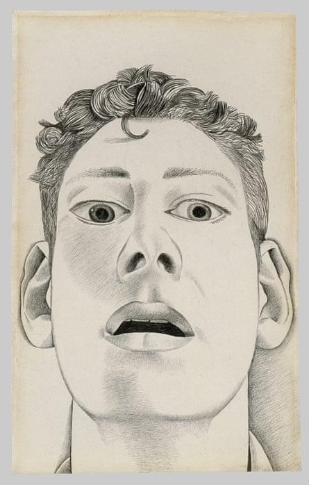 Startled Man: Self Portrait, 1948 by Lucian Freud.