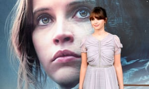 Felicit Jones attending a special screening of Rogue One: A Star Wars Story in London.