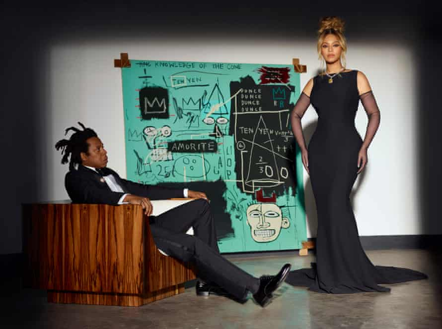Beyoncé and Jay-Z in the Tiffany & Co ad.
