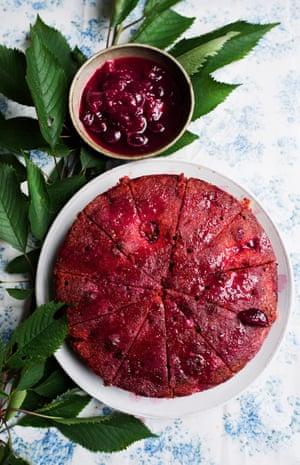 Nigel Slater's cherry polenta cake.