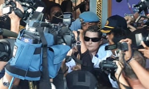 Renae Lawrence leaves prison in Bali.