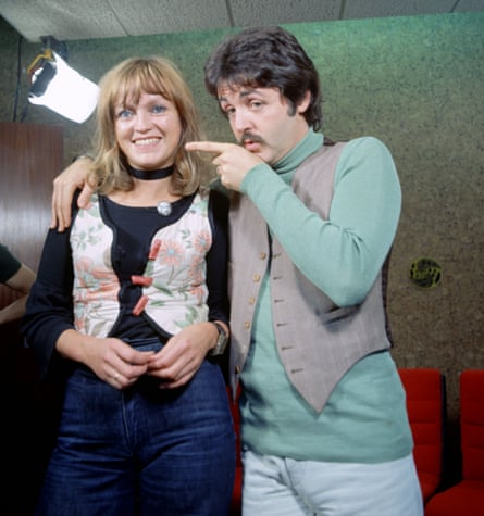 Annie Nightingale with Paul McCartney, 1975